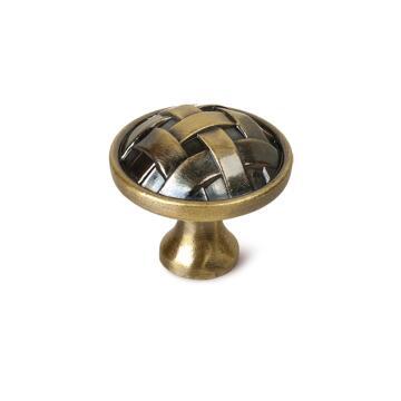 Cabinet knob zamak brushed bronze finish 34mm rei