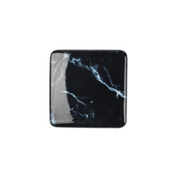 Cabinet knob black marble finish 37x37mm rei