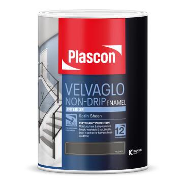 Interior Satin sheen PLASCON Velvaglo white 5 litres