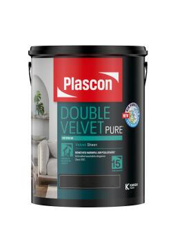 Double Velvet apricot Cream PLASCON 5 litres