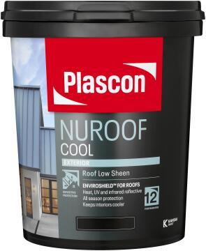 Nuroof cool acrylic roof paint Ashen Sky PLASCON 20 litres