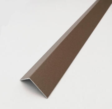 Profile equal corner aluminium powder coated rust finish 2600x15x15mm arcansas