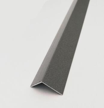 Profile equal corner aluminium powder coated anthracite finish 1000x10x10mm arcansas