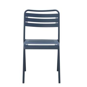 Dining chair cafe blue steel
