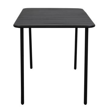 Dining table cafe anthracite steel 70cm x 120cm