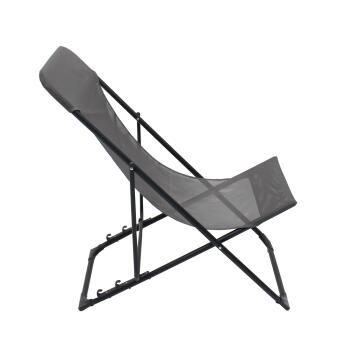 Chair relax biganos foldable steel textylen anthracite