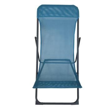 CHAIR RELAX BIGANOS STEEL TEXTYLEN FOLDABLE TAUPE BLUE