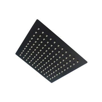 BIJIOU SHOWER ROSE SQU 210MM BLACK