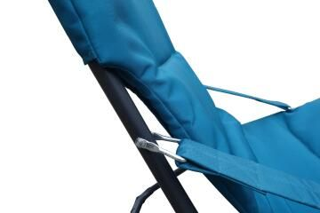 Chair relax marsella steel polyester sponge padded miami blue