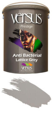 Interior paint VERSUS Anti-bacterial Lattice Grey 5 litre