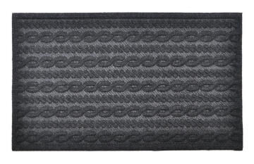 DOORMAT ECO RIB CHARCOAL 45X75CM