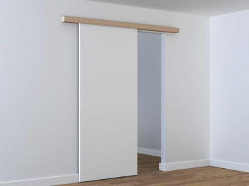 Sliding Mechanism (without door) Zumba ARTENS for Wooden Door up to 30kg and 930mm width with MDF Rail Cover