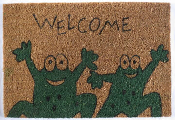 DOORMAT PVC NAT FROG WELCOME 40X60CM