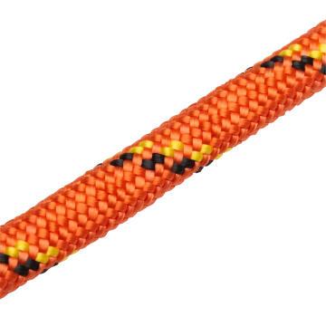 Braided polypropylene rope orange & black 8.0mm 125kg standers