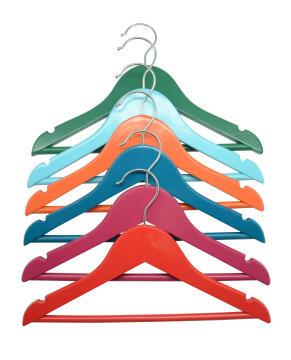 6pc Kids hangers multi colour Spaceo