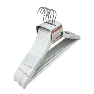 6pc Wooden hanger white Spaceo