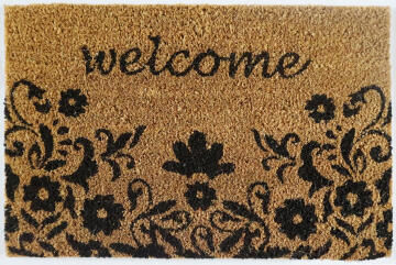 DOORMAT PVC NAT FLORAL WELCOME 40X60CM
