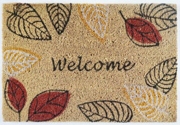 DOORMAT PVC BLEACH WELCOME LEAVE 40X60CM