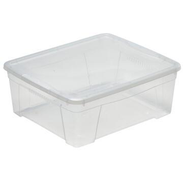 Clear Plastic Box 16,9L