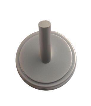 Coat Hook, Satin Nickel, Zinc Alloy, Round base, 1 Hook