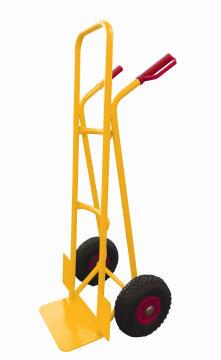 Rigid handtruck yellow red handle 200kg