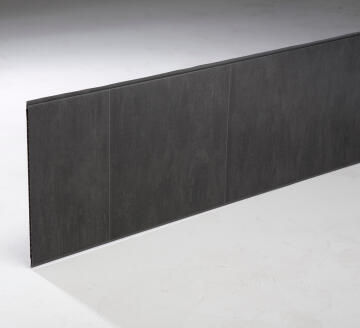 Interior Cladding PVC for Wall or Ceiling Stone Tile xl Anthracite 8mm thick-375x2600mm-pack of 2.925m2
