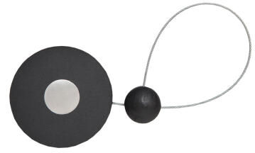 Curtain Tie Back Magnetic Anthracite Disc