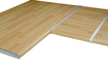 Kitchen worktop aluminium junction angle 38mm