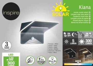 Wall lamp solar INSPIRE Kiana PIR 120°