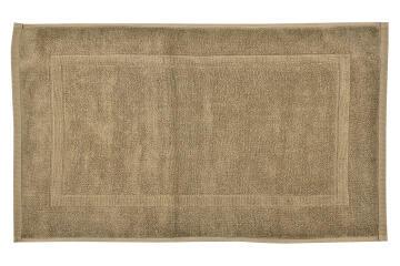 Bath mat woven rectangle cotton SENSEA Terry brown 50X80CM