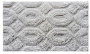 Bath mat woven cotton SENSEA Laby cream 50X80CM