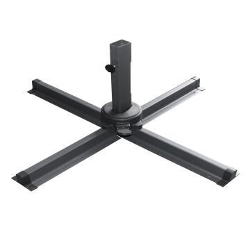 Umbrella Naterial Powder Coated Aluminium Pole 53*77Mm 8Pc Steel Rib 12*23Mm