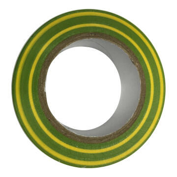INS. TAPE 0.15X15MM GREEN AND YELLOW 10M