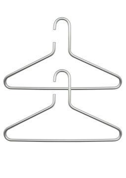 2pc Aluminium hanger chrome Spaceo
