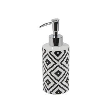 Soap dispenser ceramic SENSEA Ethnic white black