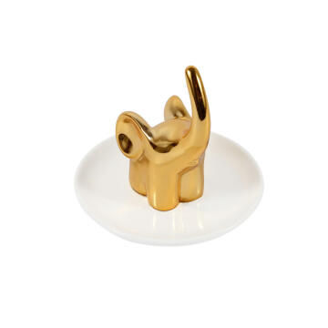 Ring holder ceramic SENSEA Baroque gold