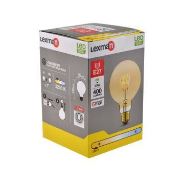 LED FILAMENT G95 E27 6W400LM2200K AMBER