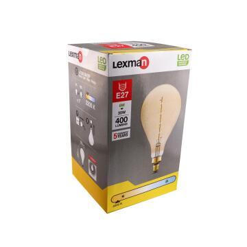 LED FILAM E27 6W400LM2200K SPIRAL AMBER