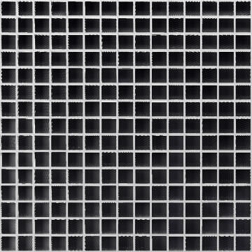 Mosaic Glass Tile ARTENS Textured Black 30x30cm
