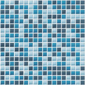 Mosaic Glass Tile ARTENS Tonic Blue 30x30cm