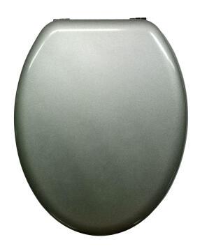 Pop toilet seat+zink alloy hinge SENSEA silver