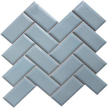 Mosaic Porcelain Metro Light Blue Chevron ARTENS 30x30cm